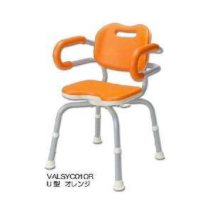 シャワーチェアひじかけ付き座面回転タイプ U型|tonerlp