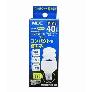 【バラ】NEC EFD10ED7E17C2C ●電球形蛍光ランプ  D形 ミニクリプトン電球40W相当タイプ ■3波長形 ■昼光色 【E17口金】【後継:EFD10ED7E17C3C】|tonerlp