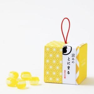 プレゼントキャンディ【京あめ いろむすび】黄檗色(グレープフルーツ) CUBEタイプ|tonimaru