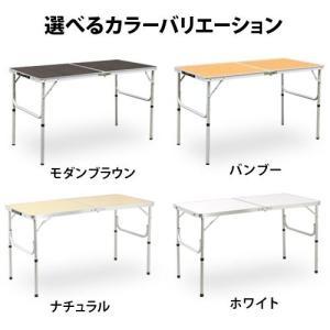 クイックキャンプ アウトドア 折りたたみテーブル 120×60cm バンブー