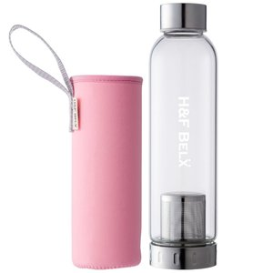 H&F BELX ガラスタンブラー(M 550ml)-ベイビーピンク