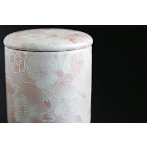 国産 仏具 ファンシー骨壺 ミニ 桜 × ピンク サイズ約 (cm) 高さ6.8cm×幅6.4cm×...