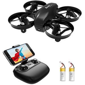 Potensic ドローン カメラ付き バッテリー2個 小型 高度保持 HD空撮カメラ WiFiリアタイム ヘッドレスモ・・・の画像