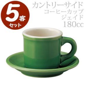 KOYO カントリーサイド ジェイド コーヒーカップ&ソーサー 5客セット(180cc)113252&113256|tonya