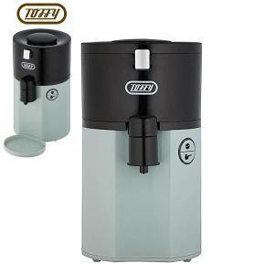 取寄品/日付指定不可 ラドンナ Toffy トフィー 全自動 ミル付 コーヒーメーカー 1杯用 パールアクア K-CM2-PA 送料無料の画像