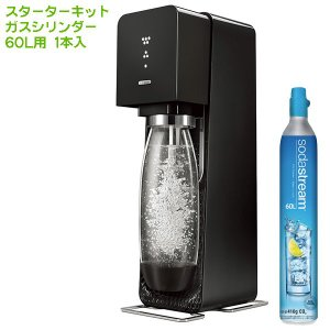 SodaStream ソーダストリーム Source v3(ソース v3) スターターキット ブラッ...