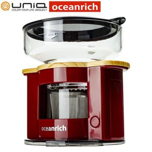 UNIQ x oceanrich ユニーク オーシャンリッチ 自動ドリップ コーヒーメーカー レッド...