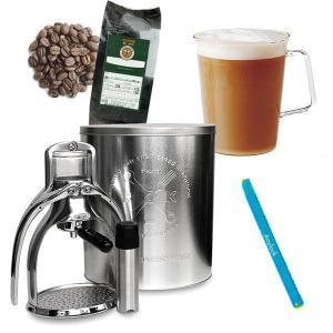 ◆ 新コーヒー生活応援 ROKエスプレッソメーカーとカフェラテマグのセット (エスプレッソ粉&エニーロック付き)【セット割引】 tonya