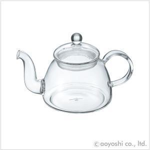 茶葉がゆらゆらと泳ぐティーポット ぽってりしたフォルムが優しい耐熱ガラス製のティーポットは、味や香り...