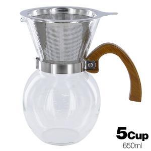 バンブーコーヒーサーバー 5cup 650ml YCD5 (ステンレスフィルター付) tonya