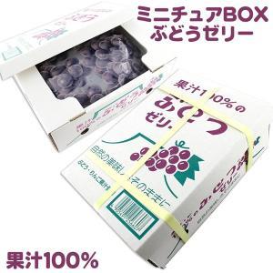 果汁100% ぶどうゼリー 23個 (ミニチュアBOX入り)|tonya