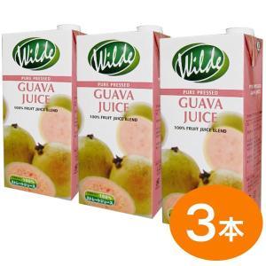 砂糖無添加・水を一滴も加えていない Wild ワイルド グアバジュース 1000ml(3本)|tonya
