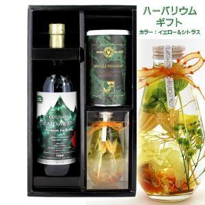 ハーバリウム イエロー & エメラルドマウンテン缶 & プレミアム瓶詰アイスコーヒー ギフト DRIC-65EE-YC tonya