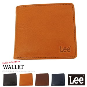 Lee リー イタリアンレザー 2つ折財布 二つ折り財布 メンズ 牛革 イタリア革 本革 コンパクト メンズファッション メンズ通販 tool-power