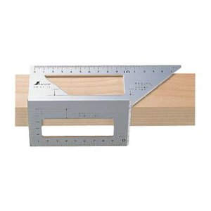 一発止型定規 アルミ 62113※ シンワ ■31494|tool-shop-ten