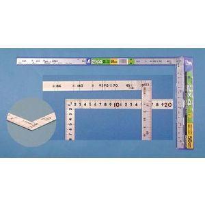 シンワ 曲尺 2×4工法用  シルバー50cm/尺5 10055|tool4u