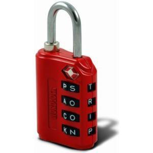 ワードロック WORD LOCK  LL-206-RD ラゲッジロック4 レッド (W|tool4u
