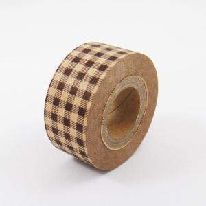 カルトナージュ テープ チェックブラウン tool4u