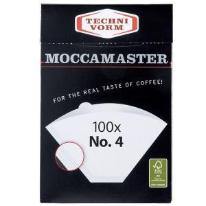 MOCCAMASTER モカマスター ペーパーフィルター No.4(100枚入) ホワイト MMF-4|toolandmeal