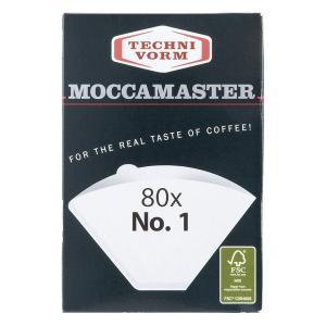 MOCCAMASTER モカマスター ペーパーフィルター No.1(80枚入) ホワイト MMF-1|toolandmeal