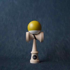 ALL オール けん玉 SOFT BEECH MSTERD / WHITE【ストリートけん玉】【KENDAMA】【ケンダマ】【トリック】【練習】|toolate