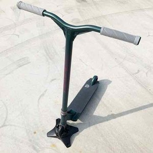 フリースタイルスクータープロモデル DISTRICT ディストリクト HTS リトマスグリーン 身長160~190cm キックボードスタントトリック|toolate