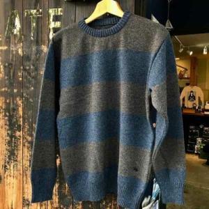 サイズ限定セール green clothing グリーンクロージング LAMBS WOOL SWEATER BROWN/NAVY【スノーボード】【セーター】【ミッドレイヤー】|toolate