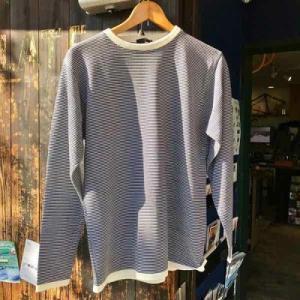 サイズ限定セール green clothing グリーンクロージング インナー シャツ Wool Layer White/Navy【スノーボード】【ウール】【ファーストレイヤー】|toolate