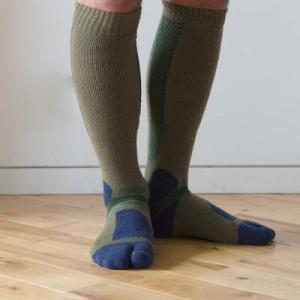 H.I.D × RasoxPlus ラソックス ウール タビ型靴下 early spring モス Sサイズ【スノーボード】【登山】 toolate