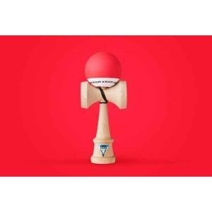 KROM クロム けん玉 KROM POP Red【ストリートけん玉】【KENDAMA】【ケンダマ】【トリック】【練習】|toolate