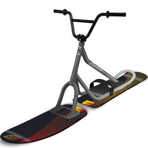【最新オールラウンド】SNOWSCOOT スノースクート a2 ブラック/グレー【プロ組み立て済み】|toolate
