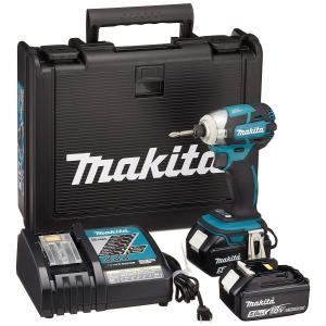 マキタ 充電式インパクトドライバー 18V 5.0Ah 青 TD148DRTX(バッテリー2個・充電器・収納ケース付) toolmania-n