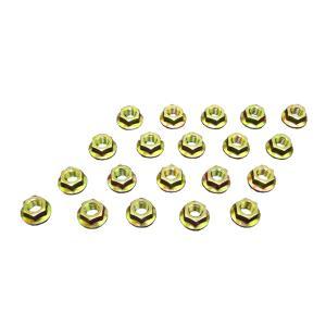 フランジナット ピッチ1.25 ヘッド12mm 20個セットサンコー製 クロームメッキ 8セレートなし|toolshop-dream
