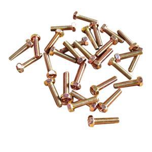 ボルト クロメートメッキ 6×25 ヘッド10mm ピッチ細目1.0 30個入|toolshop-dream