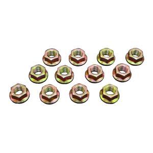 フランジナット ピッチ1.25 ヘッド14mm 12個セット サンコー製 クロームメッキ 10セレートなし|toolshop-dream
