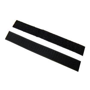 業務用 超強力 面ファスナー 黒 幅25mm×20cmオスメスセット強粘着裏糊付 マジックテープ|toolshop-dream