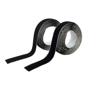 業務用 超強力 面ファスナー 黒 幅25mm×3Mオスメスセット強粘着裏糊付 マジックテープ|toolshop-dream