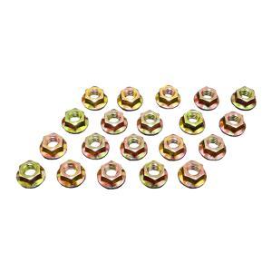 フランジナット ピッチ1.0 ヘッド10mm 20個セット ヘッド10mm クロームメッキ サンコー製 6セレート付き|toolshop-dream