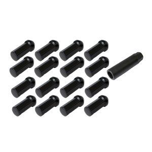 ホイールナット ロング 七角形ロックナット 42mm 黒 協永産業 16個セット|toolshop-dream