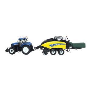ニューホランド トラクター&ビックべーラー ミニチュア セット|toolshop-dream