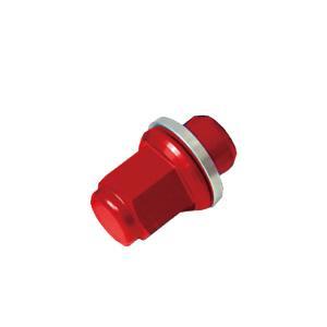トヨタ アクア カラーホイールナット  国産 純正アルミホイール 専用 赤|toolshop-dream