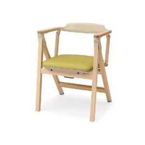 パラマウントベッド 木製折りたたみチェア KD-480LG ライトグリーン