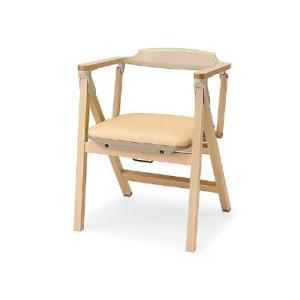 パラマウントベッド 木製折りたたみチェア KD-480LY ライトイエロー