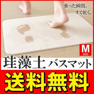◆送料無料◆【訳あり特価】選べるカラー3色!珪藻土バスマット...