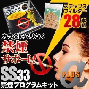 ◆ついで買いセール◆ 禁煙プログラムキット「SS33」ステップ3フィルター追加パック 28本入セット ニコチン・タール75%カット ■■ ◇ 禁煙 αPLUS|top1-price