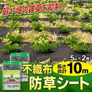 ◆ついで買いセール◆ 雑草防止シート 不織布タイプ 2巻セッ...