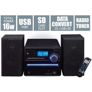 ◆送料無料◆ 高品質な音響空間を創造。マルチミニコンポ CD音楽⇒SD・USBにダイレクト録音 CDプレーヤー/FMラジオ 高音・低音調整機能 16W ◇ コンポ M8|top1-price|06