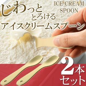 アイススプーン 2本組 熱伝導 じわっととろける アルミニウム製 アイスクリーム用 スプーン 化粧箱...