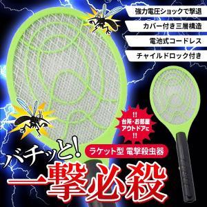 超強力電圧ショックで、ハエ・蚊を撃退! 虫に直接触れないから、後処理もラクラク♪ お部屋、アウトドア...
