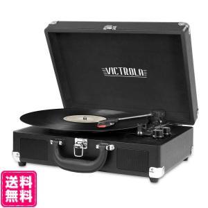 Victrola 3-Speed Bluetooth スピーカー レコードプレイヤー トランク型 ブラック 海外お取り寄せ品 topatokyo